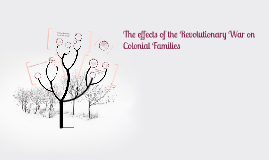 Copy of The effects of the Revolutionary War on Colonial Families