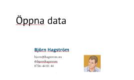 Seminarie och workshop om Öppna data v2 - Kronofogden