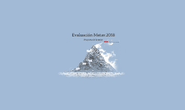 Evaluación Metas 2018