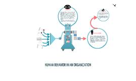 HUMAN BEHAVIOR IN AN ORGANIZATION