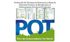 Evaluación de Terminos de Referencia y Bases de licitación P