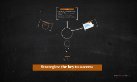 Strategies: the key to success