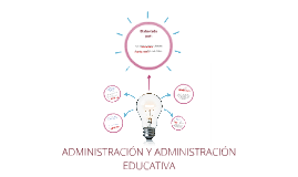 ADMINISTRACIÓN Y ADMINISTRACIÓN EDUCATIVA