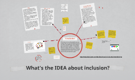 What's the IDEA about inclusion?