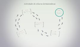 Actividades de refuerzo de Matemáticas