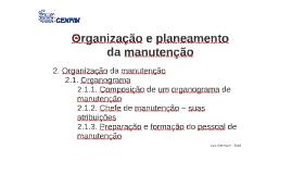 02 Organização e planeamento da manutenção