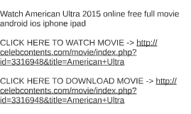 Watch American Ultra 2015 online free full movie android ios by ...