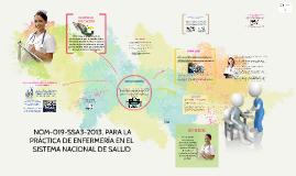 Copy of  NOM-019-SSA3-2013, PARA LA PRÁCTICA DE ENFERMERÍA EN EL