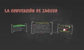 La Conversión de Zaqueo