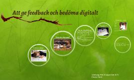 Copy of Att ge feedback och bedöma digitalt