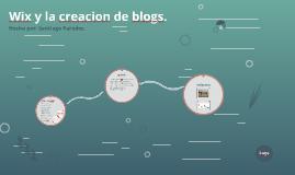 Wix y la creacion de blogs.