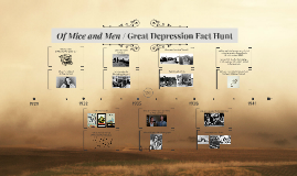 Of Mice and Men / Great Depression Fact Hunt