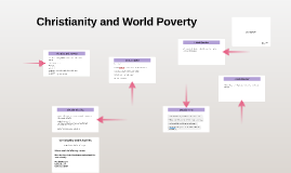 Christianity and World Poverty