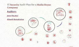 IT Security Audit Plan for a Media House Company