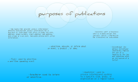 purposes of publications