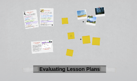 Evaluating Lesson Plans