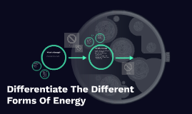 Differentiate The Different Forms Of Energy