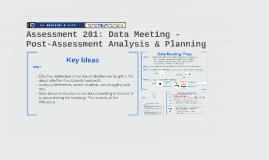 Assessment 201: Data Meeting - Post-Assessment Analysis & Planning