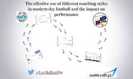 The effective use of different coaching styles in modern day