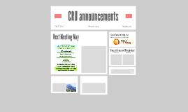CRU announcements