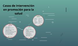 Casos de intervención en promoción para la salud