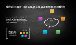 Framework  for academic language learning