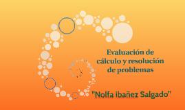 Evaluación de cálculo y resolución de problemas