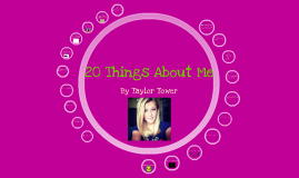Copy of 20 Things About Me