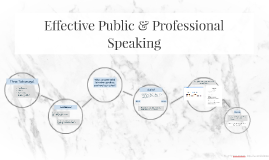 Effective Public & Professional Speaking