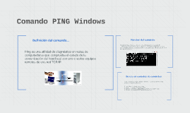 Comando PING Windows