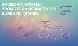 SOCIEDAD ANÓNIMA PROMOTORA DE INVERSIÓN BURSÁTIL