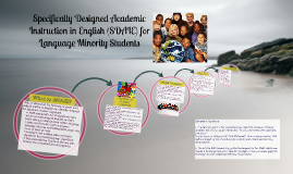 Specifically Designed Academic Instruction in English (SDAIE