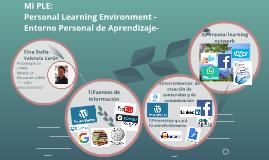 Mi PLE  Personal Learning Environment - Entorno Personal de