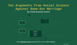 Rather opinion Arguements against same sex marriage