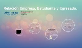 Relación Empresa, Estudiante y Egresado.