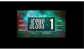 JESUS the 1 - Hebrews 1:1-3