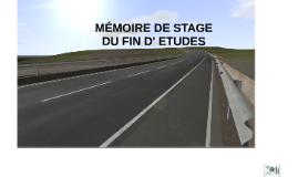 MEMOIRE DE STAGE DU FIN D' UTIDES