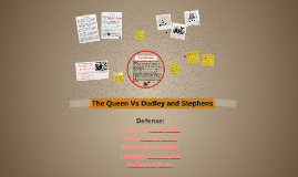 queen vs dudley and stephens opening One is a 19th century murder from britain, queen v dudley and stephens, in which two starving men adrift in a lifeboat.