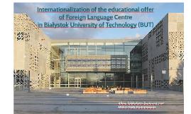 Copy of Internacjonalizacja oferty Studium Języków Obcych Politechni