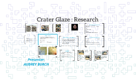 Crater Glaze : Research