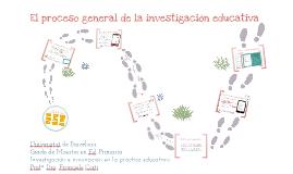 Proceso general de la investigación educativa