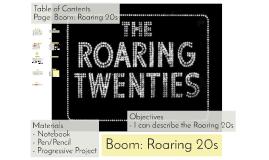 Boom: Roaring 20s