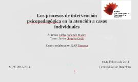 Copy of Los procesos de intervención psicopedagógica en la atención