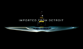 Chrysler Imported From Detroit Campaign