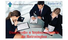 Desarrollo e Implementación de Estrategias