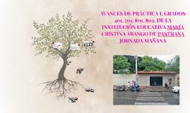 AVANCES DE PRÁCTICA I, GRDAOS 401,701,801,802, DE INSTITUCIÓ