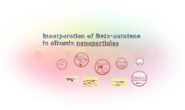 Copy of Copy of Incorporation of Beta-carotene in albumin nanoparticles