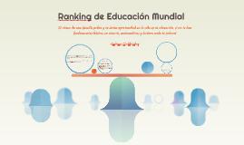 Ranking de Educación Mundial