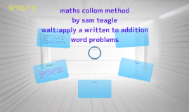 maths collom method