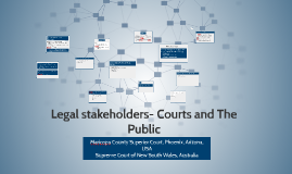 Legal stakeholders- Courts and The Public